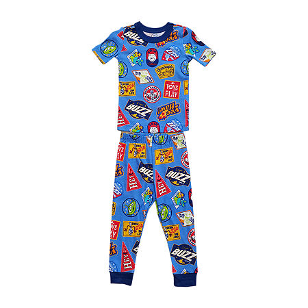 Disney Collection Little & Big Boys 2-pc. Toy Story Pant Pajama Set, 8 , Blue
