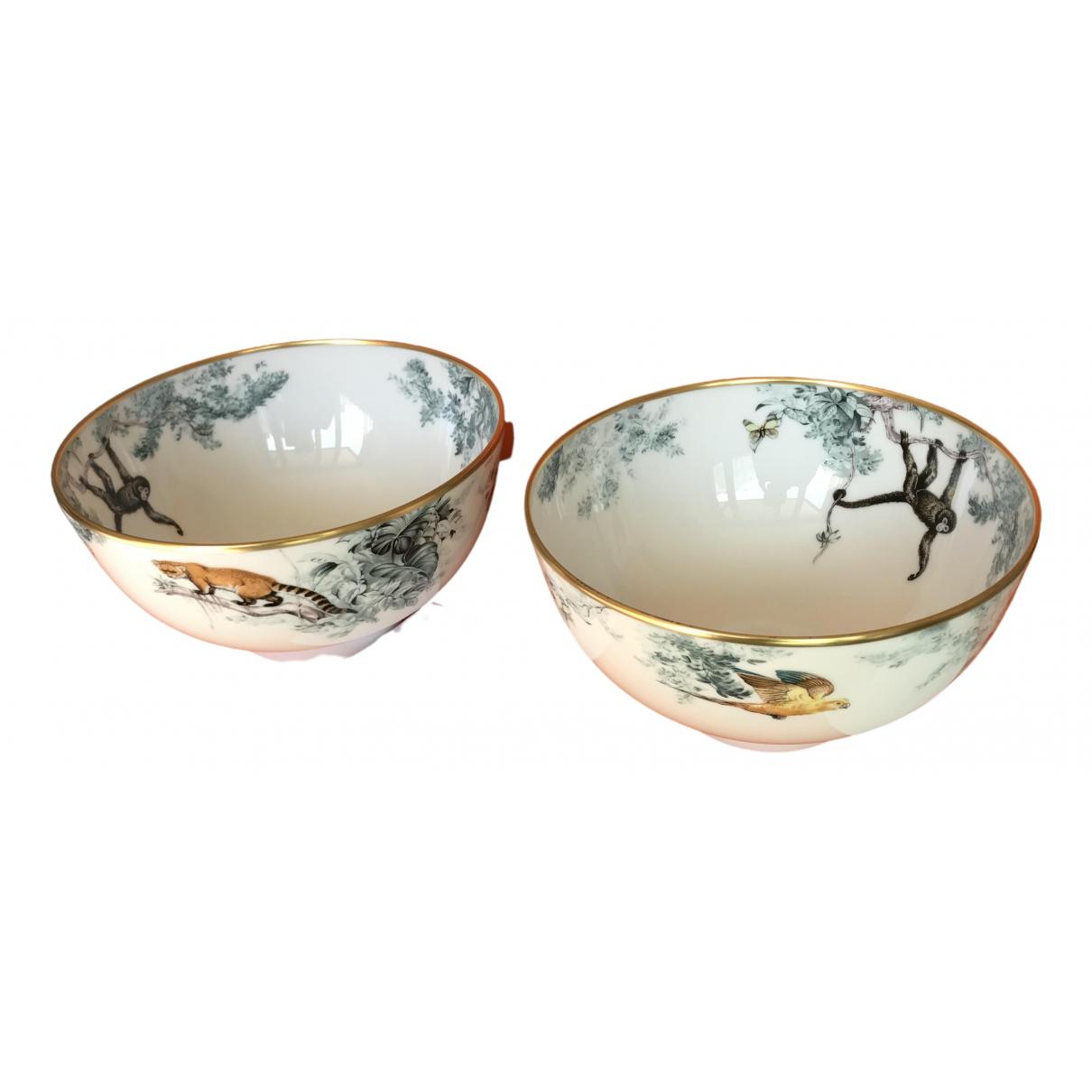 Hermès Carnets d'Équateur White Porcelain Dinnerware for Life & Living \N