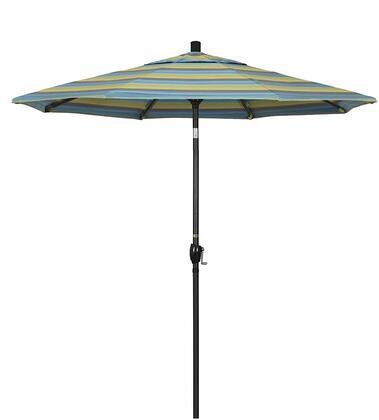 GSPT758302-56096 7.5' Pacific Trail Series Patio Umbrella With Stone Black Aluminum Pole Aluminum Ribs Push Button Tilt Crank Lift With Sunbrella 2A