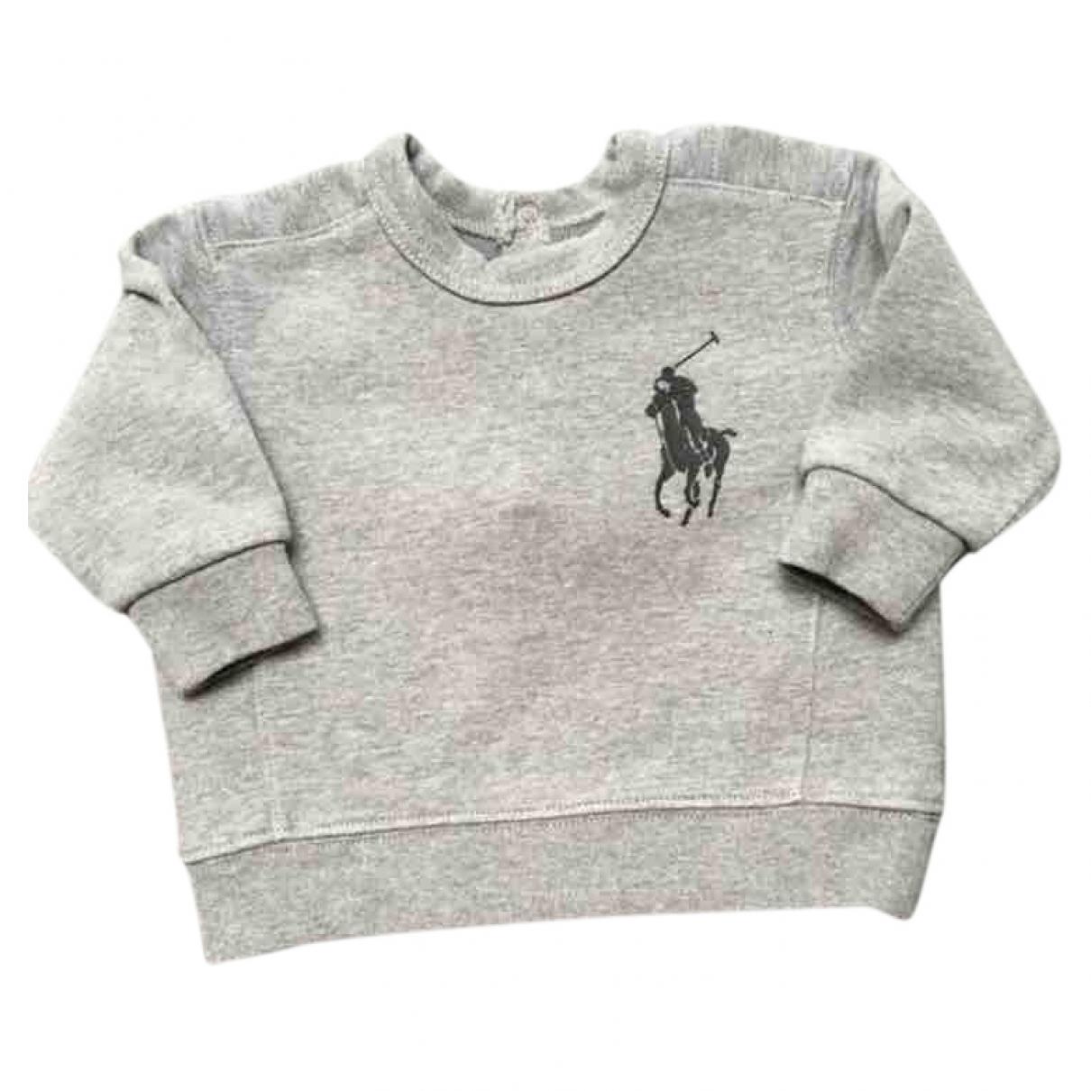 Ralph Lauren \N Grey Cotton Knitwear for Kids 6 months - up to 67cm FR