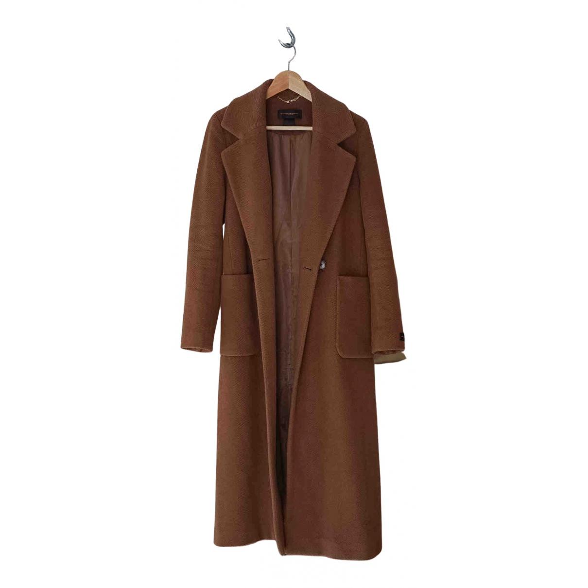 Donna Karan - Manteau   pour femme en laine - marron