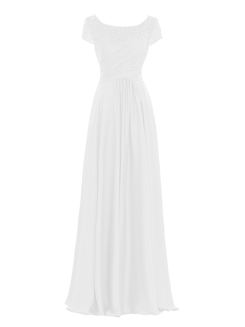 Ericdress Beaded Short Sleeves Mother Of The Bride Dress