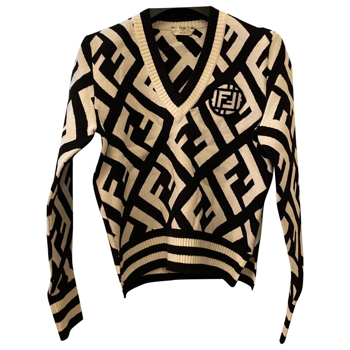 Fendi \N Pullover in  Schwarz Wolle