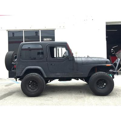 Rally Tops One-Piece Hardtop with Roof Rack with Upper Half Doors - YJHTHDR