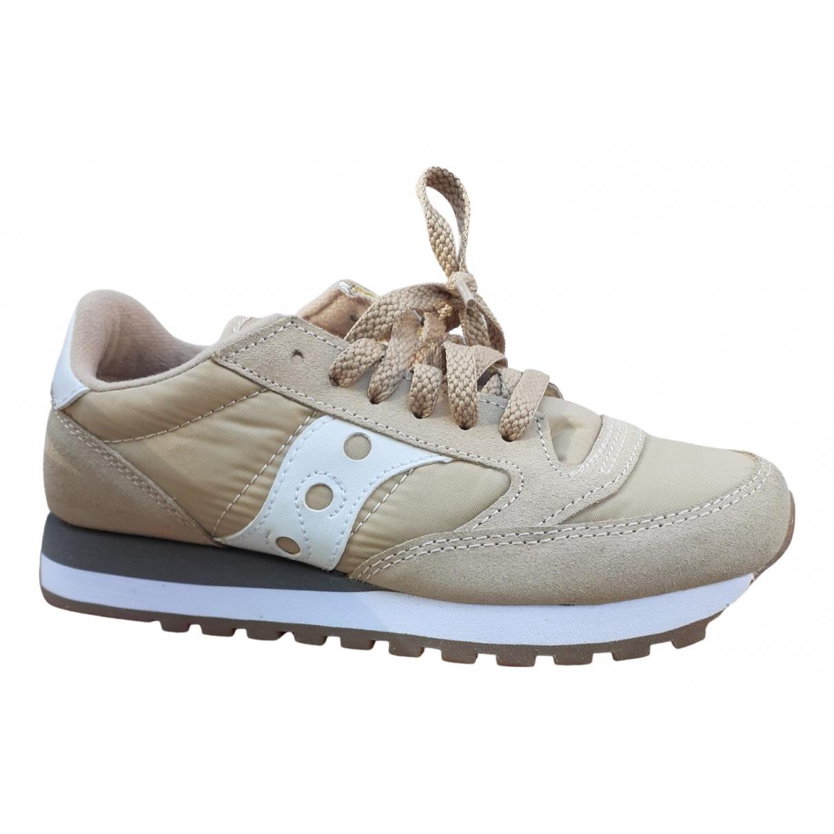 Saucony \N Sneakers in  Beige Polyester