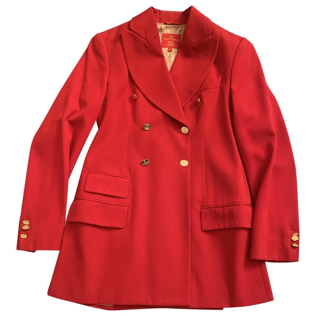 Vivienne Westwood Red Label - Veste   pour femme en laine - rouge