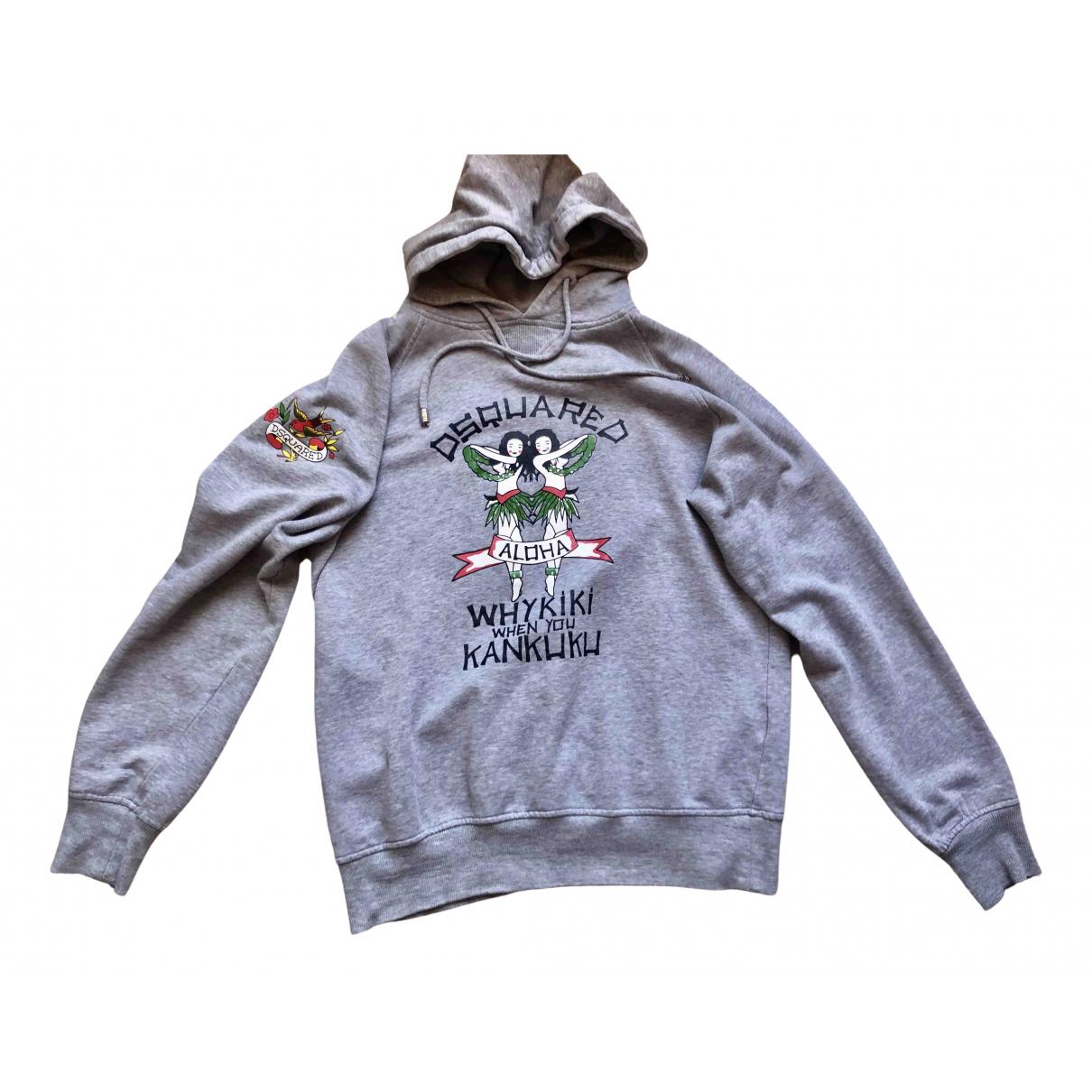 Dsquared2 \N Grey Cotton Knitwear & Sweatshirts for Men L International