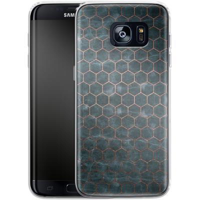 Samsung Galaxy S7 Edge Silikon Handyhuelle - Marble Mermaid Pattern von #basic