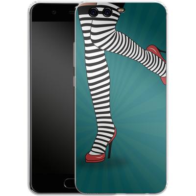Huawei P10 Silikon Handyhuelle - Stripy Tights von Mark Ashkenazi
