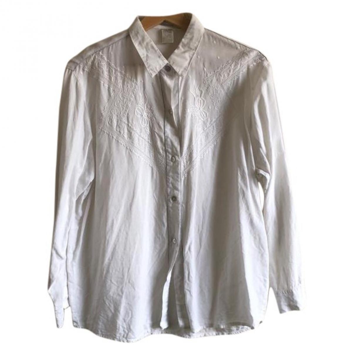 - Top Hippie Chic pour femme en coton - blanc