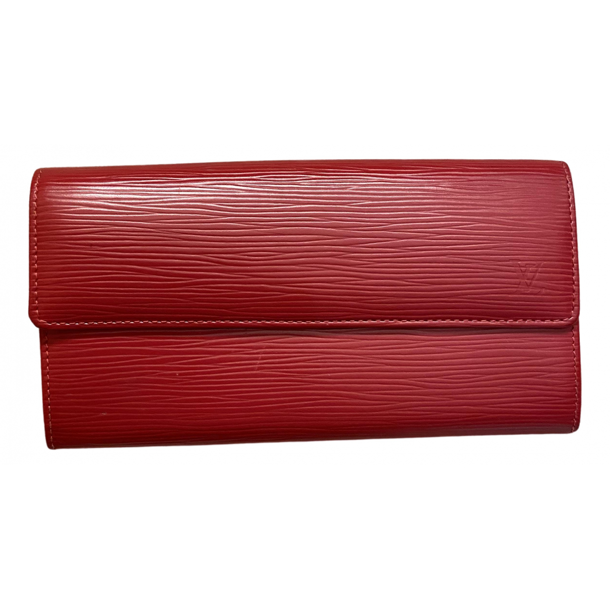 Louis Vuitton - Portefeuille Virtuose pour femme en cuir - rouge