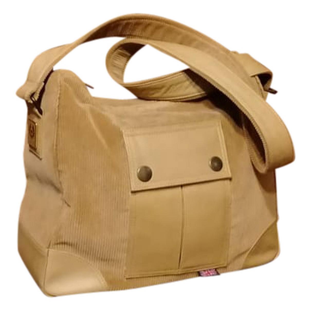 Belstaff \N Beige Velvet bag for Men \N