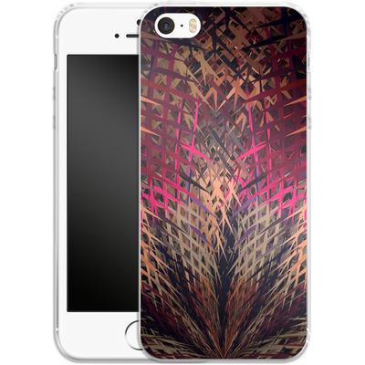 Apple iPhone 5s Silikon Handyhuelle - Grid Explosion von Danny Ivan