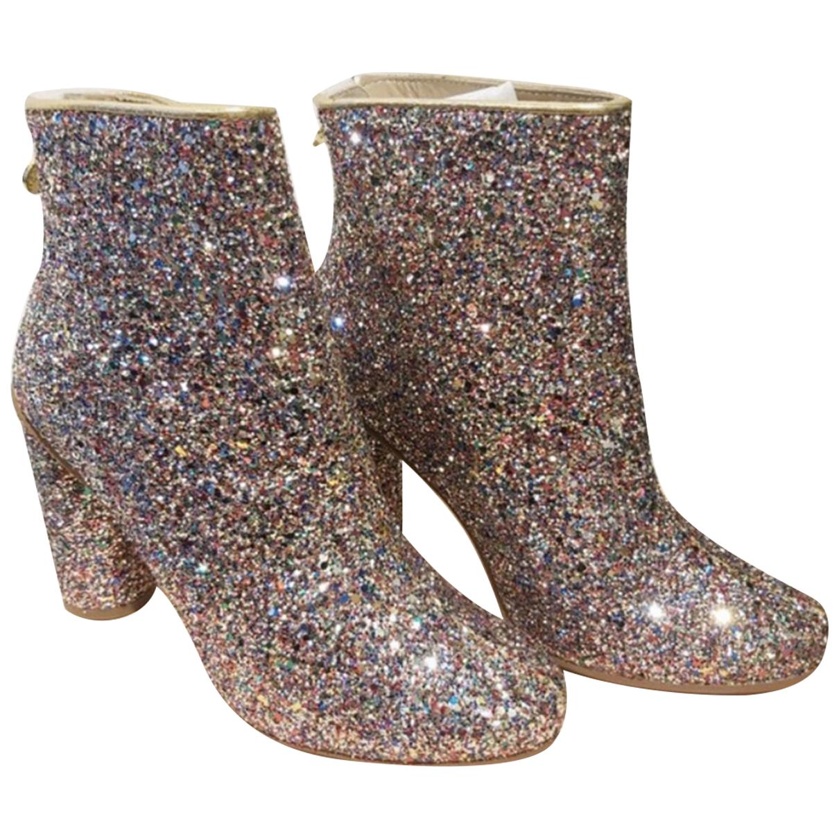 Stine Goya - Boots   pour femme en a paillettes - metallise