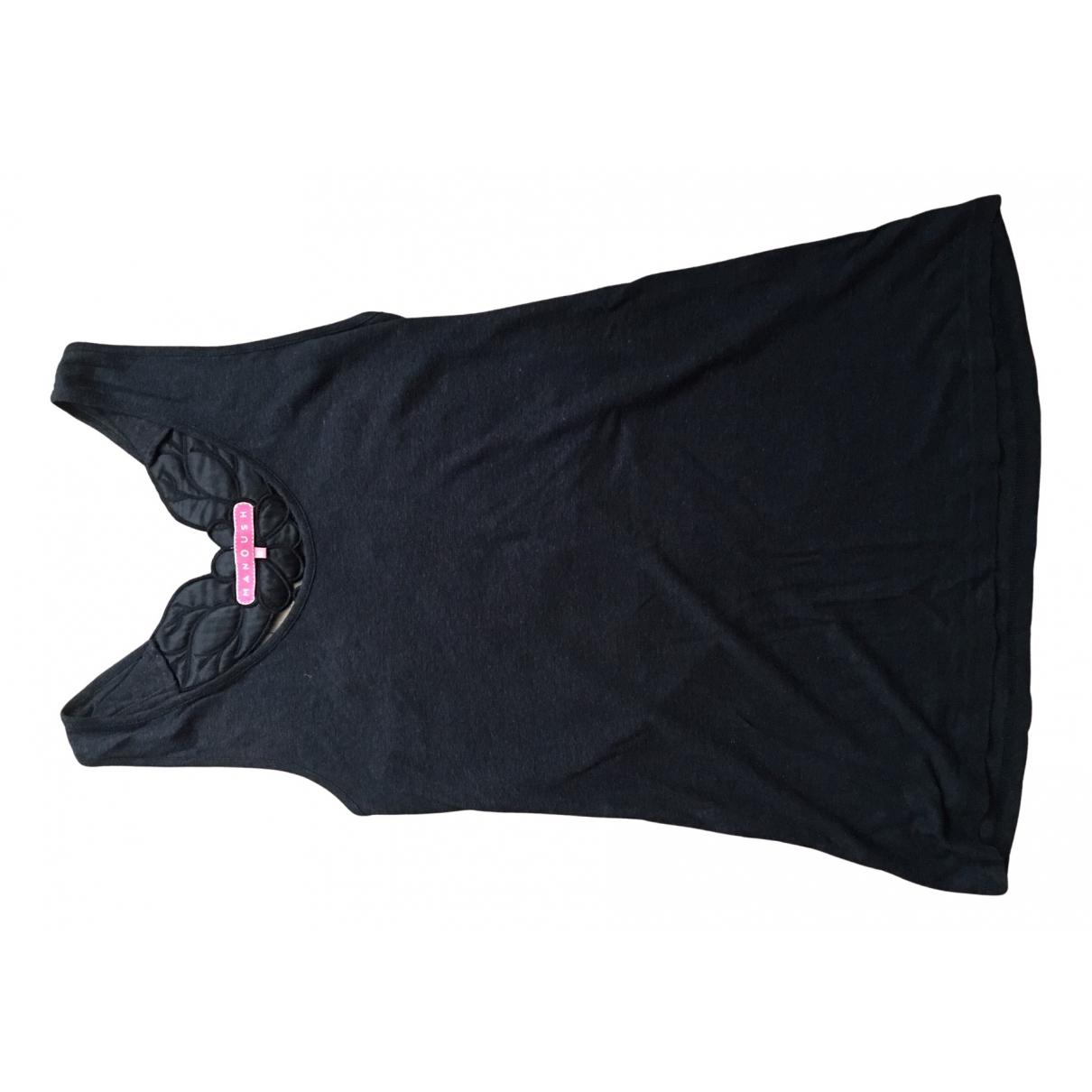 Manoush - Top   pour femme en lin - noir