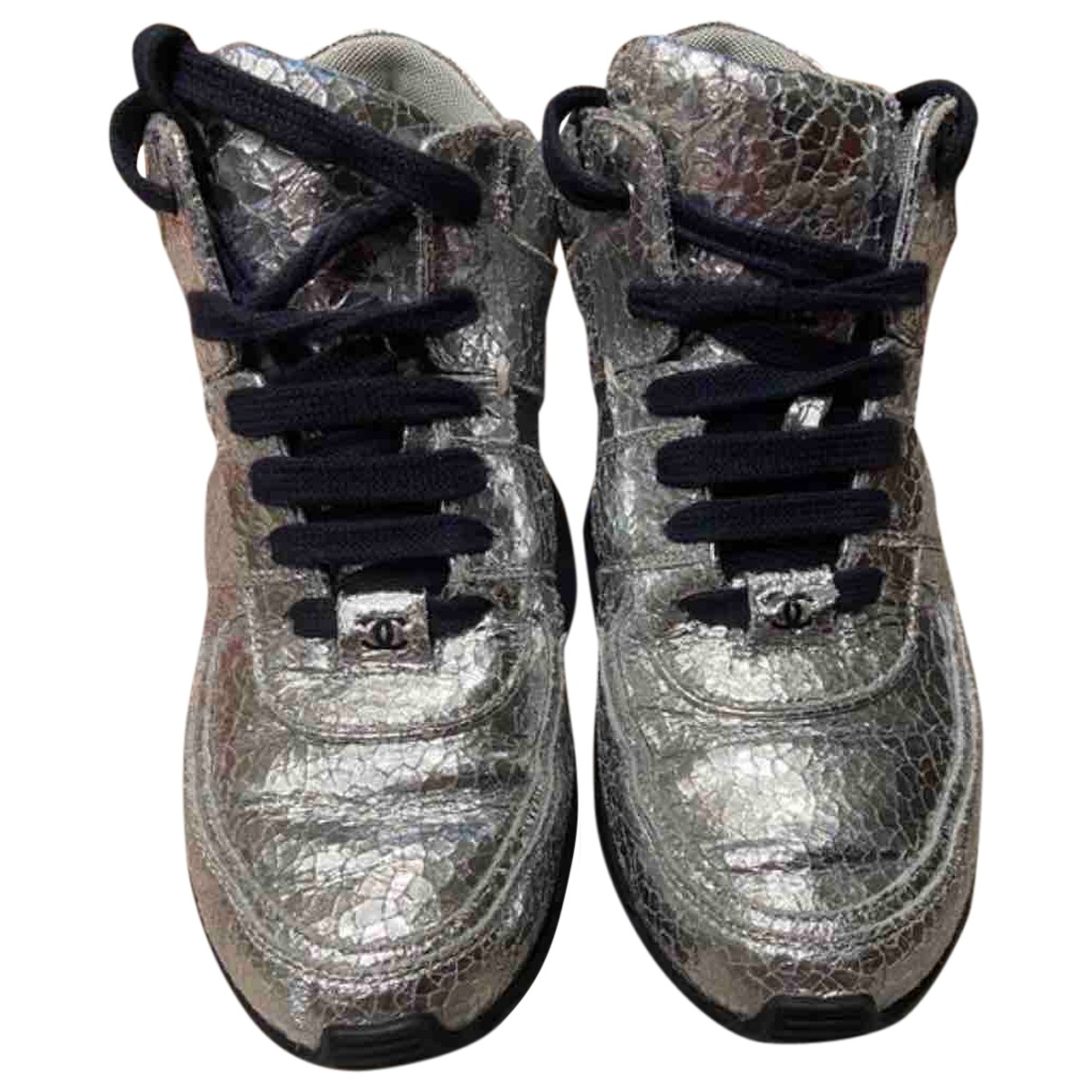 Chanel \N Silver Leather Trainers for Women 37 EU