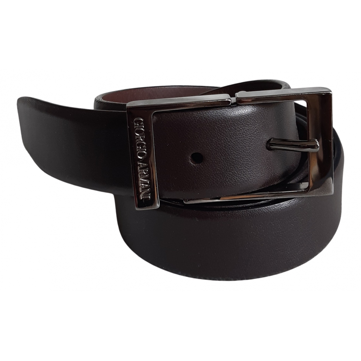 Giorgio Armani N Brown Leather belt for Men 95 cm