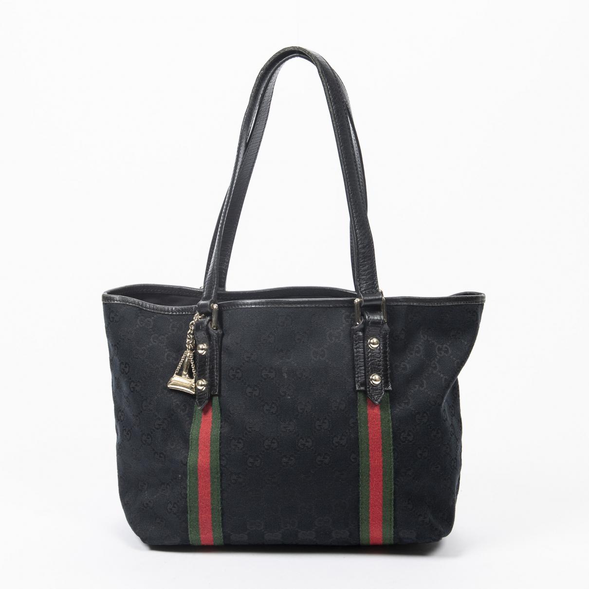 Gucci \N Handtasche in  Schwarz Baumwolle