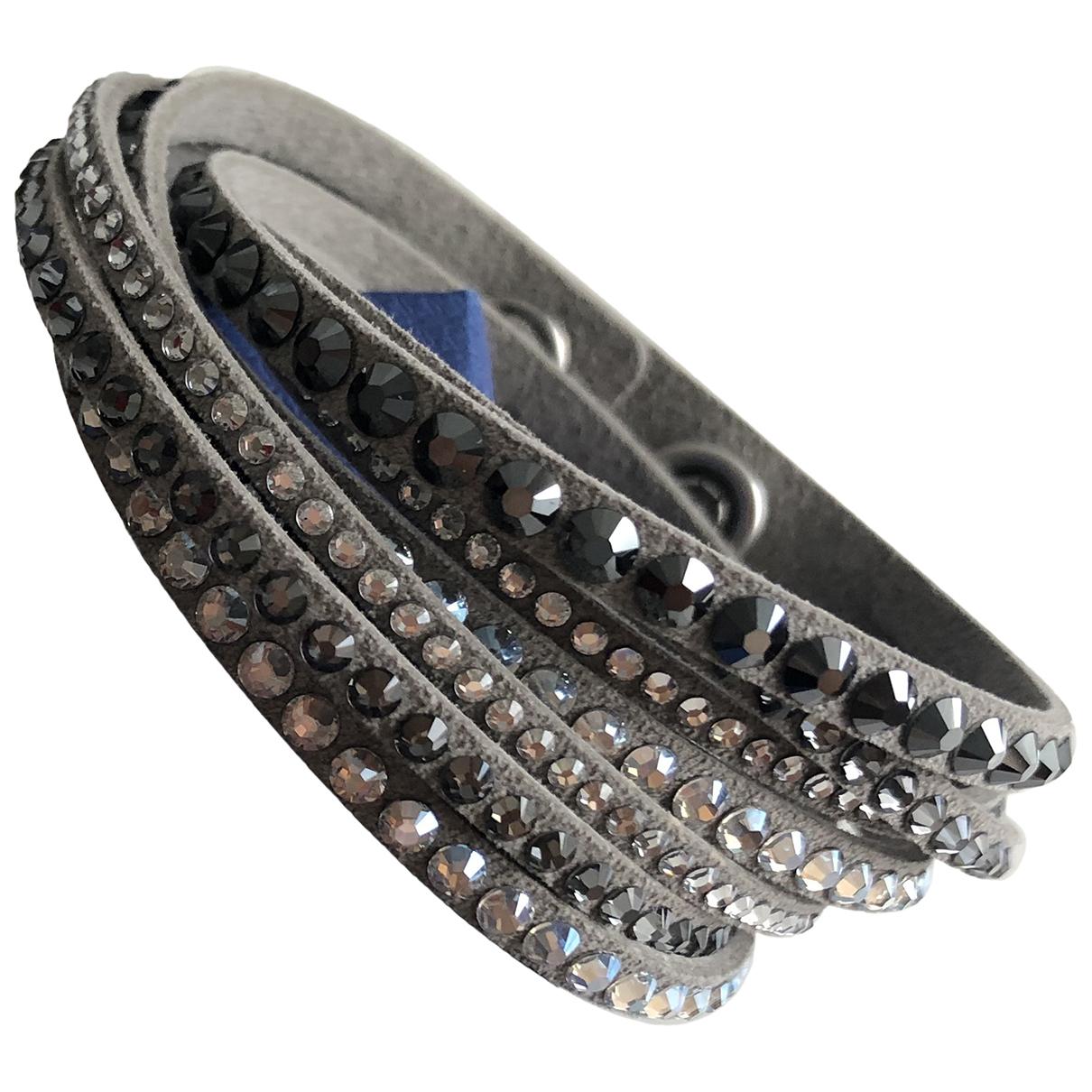 Swarovski Slake Grey Leather bracelet for Women N