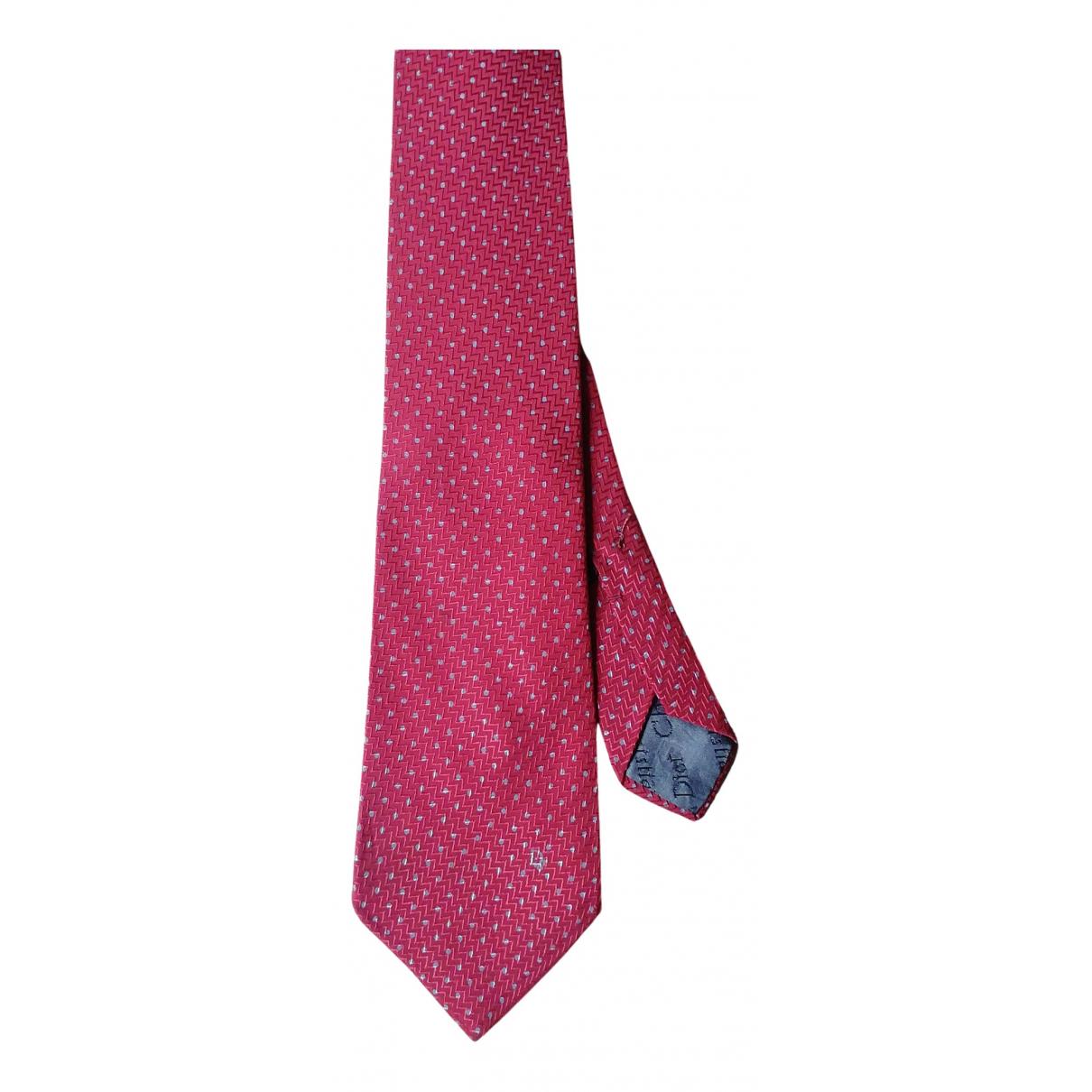 Dior - Cravates   pour homme en soie - bordeaux