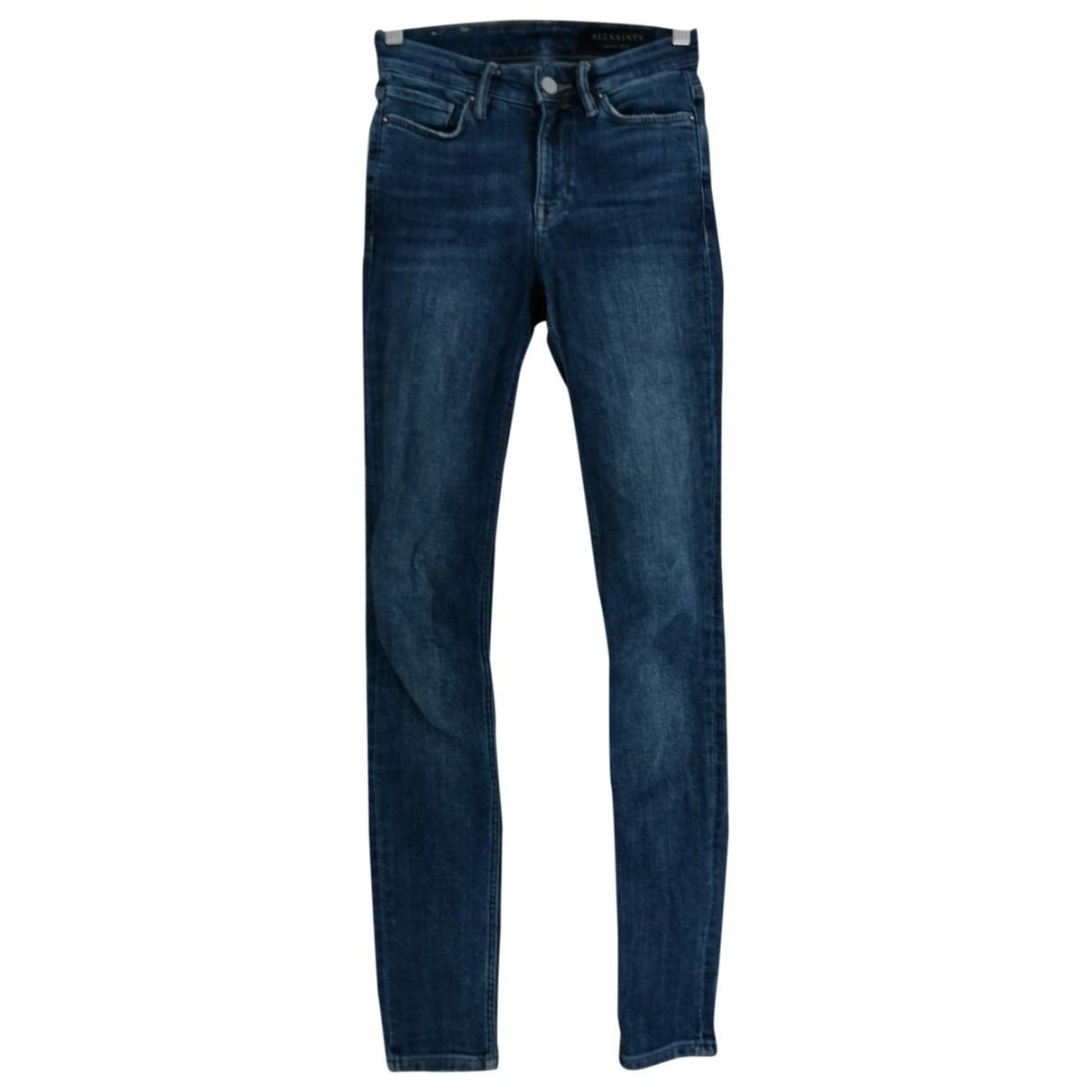 All Saints \N Blue Denim - Jeans Jeans for Women 24 US