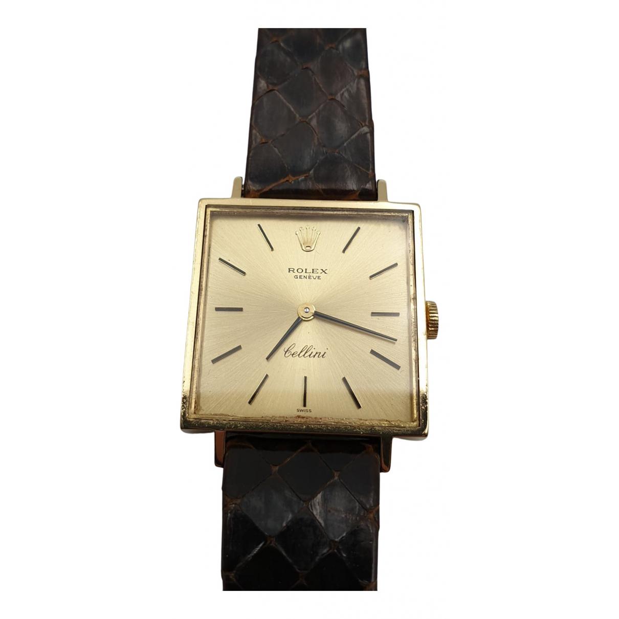 Rolex - Montre Cellini pour femme en or jaune - dore