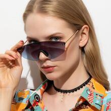Sonnenbrille mit gerader Oberseite ohne Rahmen