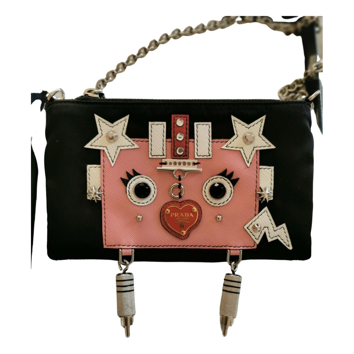 Prada \N Clutch in  Schwarz Synthetik