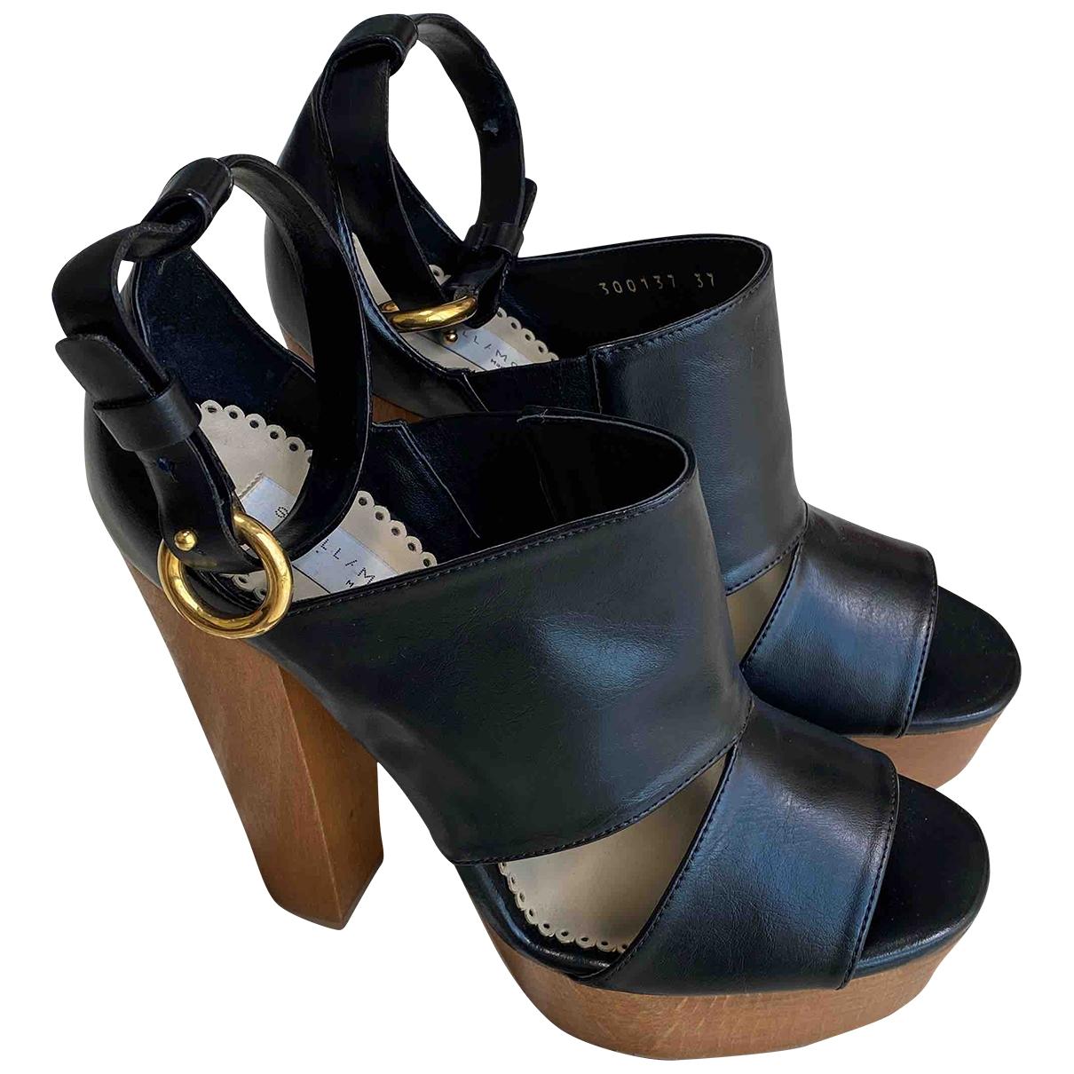 Stella Mccartney \N Black Leather Sandals for Women 37 IT