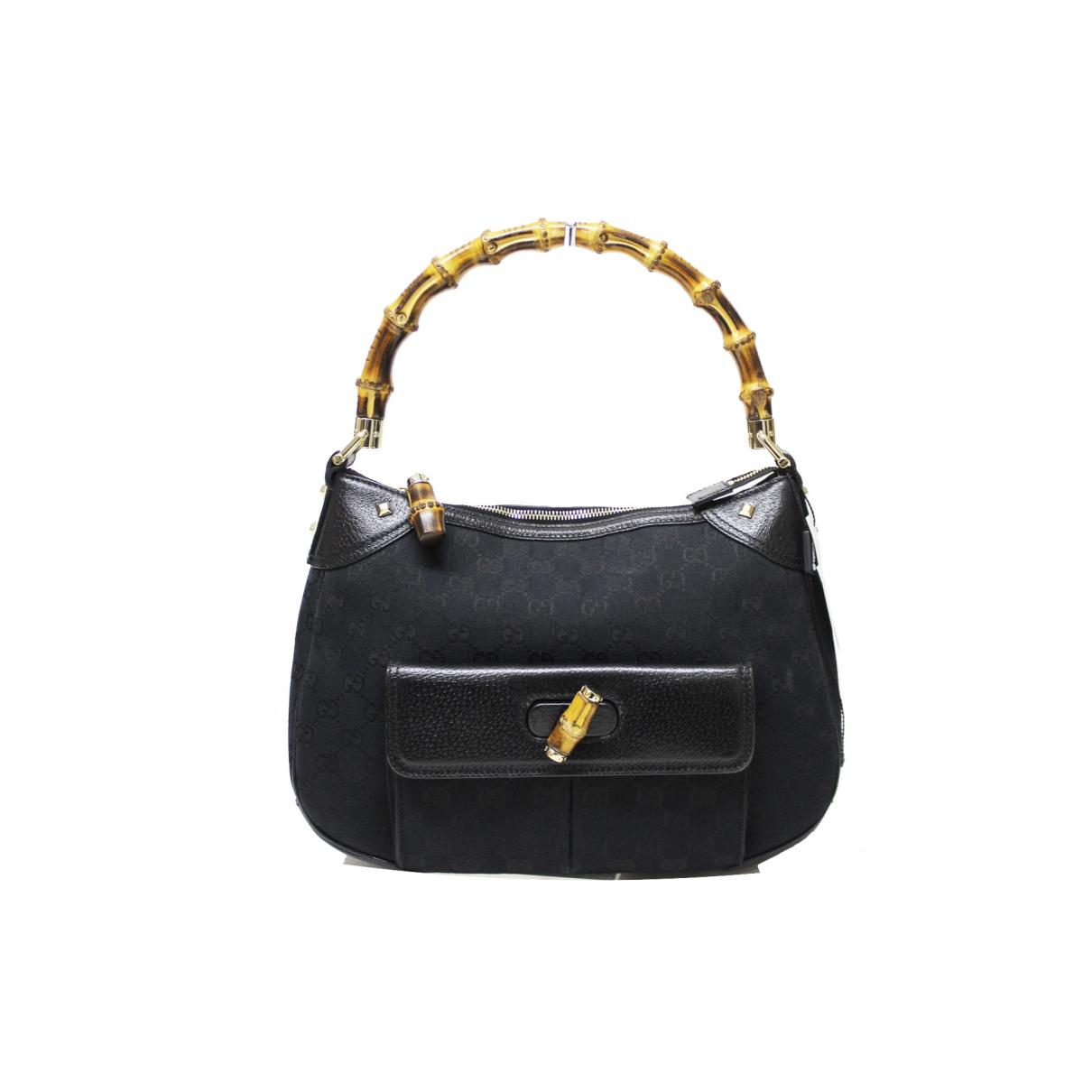 Gucci Bamboo Black Cloth handbag for Women \N