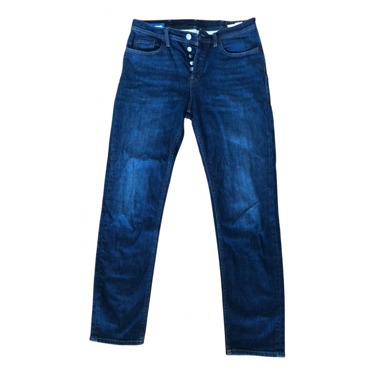 Acne Studios \N Blue Cotton Jeans for Men 29 US