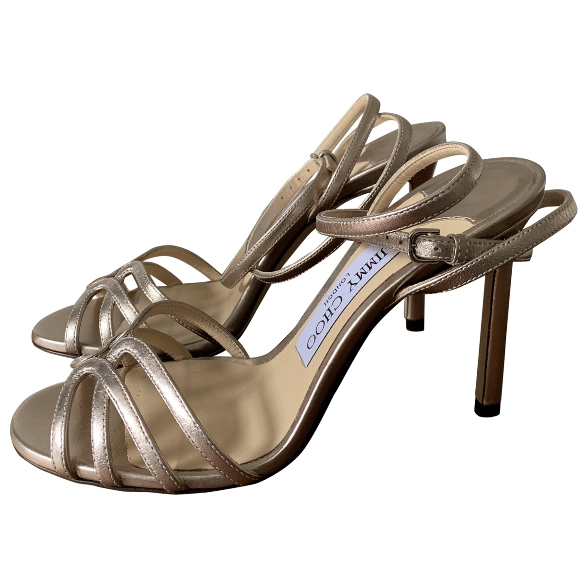 Jimmy Choo \N Gold Leather Sandals for Women 35.5 EU