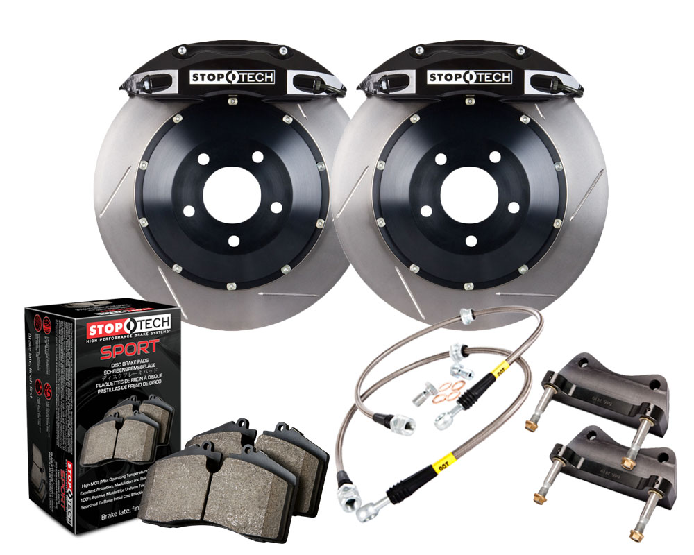 StopTech 83.160.0047.51 Big Brake Kit; Black Caliper; Slotted Two-Piece Rotor; Rear BMW M3 Rear 2008-2009