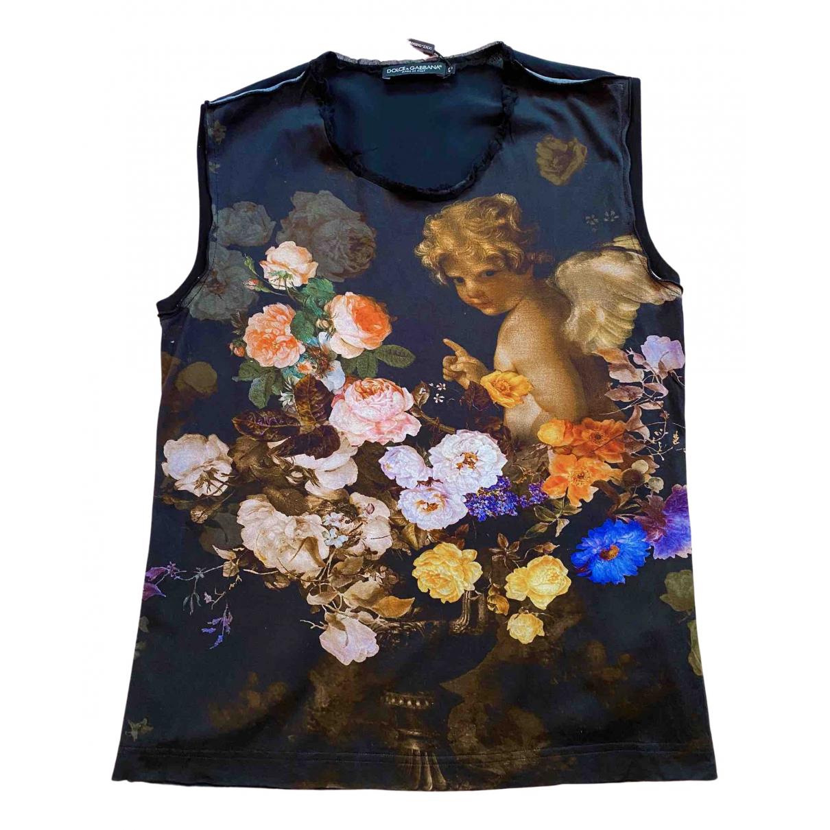 Dolce & Gabbana \N Black Silk  top for Women 42 IT