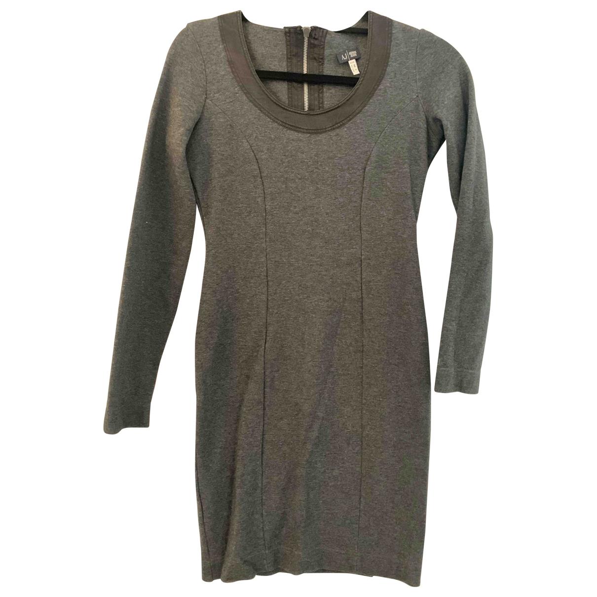 Armani Jeans \N Kleid in  Grau Baumwolle - Elasthan