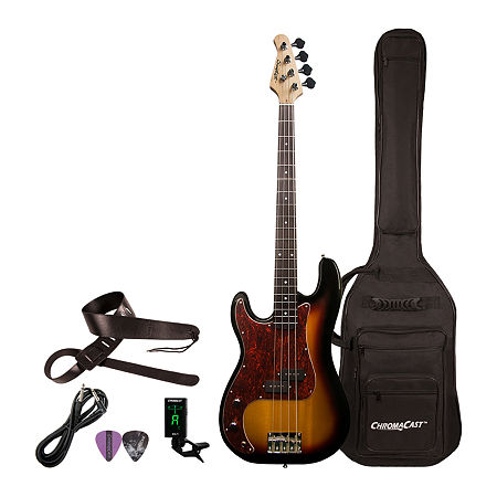Sawtooth EP Series Left-Handed Electric Bass Guitar Kit, One Size , Multiple Colors