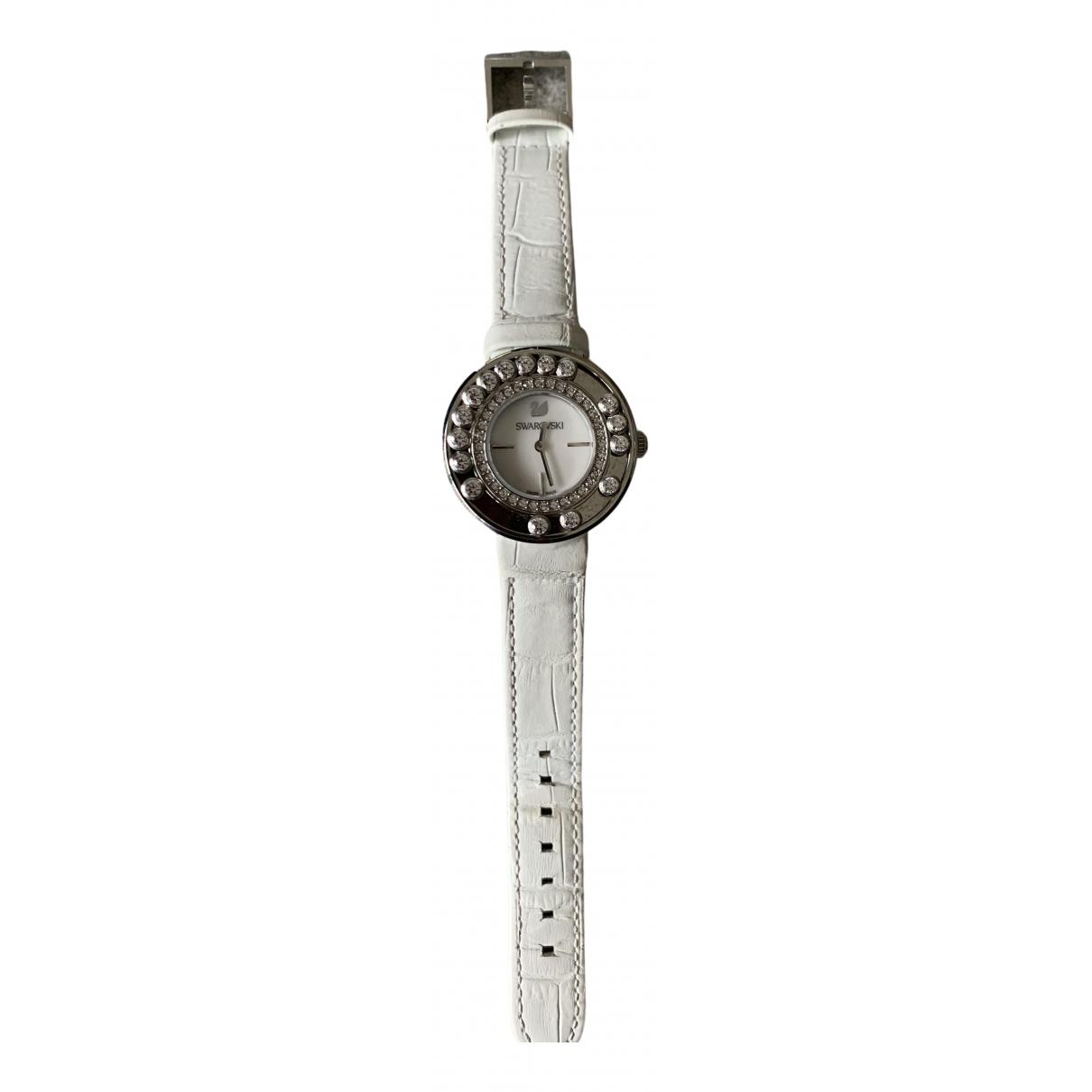 Swarovski \N Uhr in  Weiss Stahl