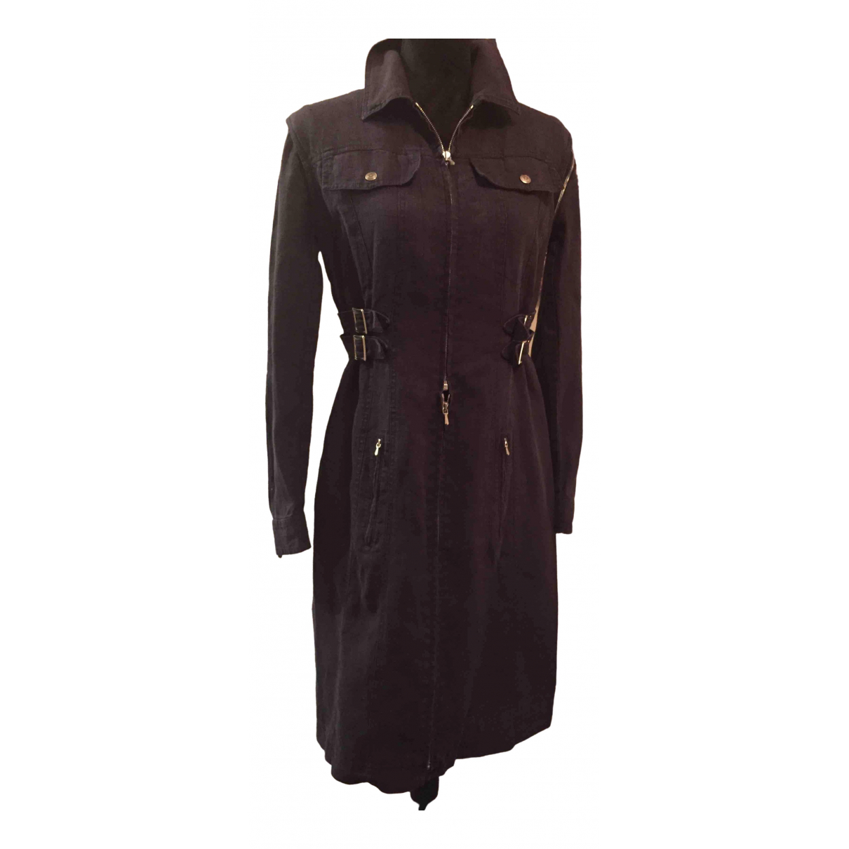Dior - Trench   pour femme en lin - noir