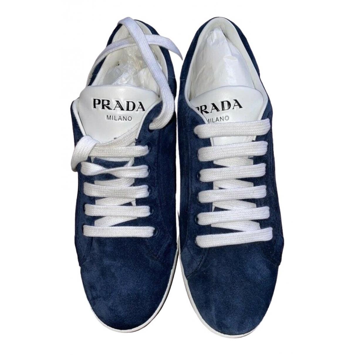 Prada \N Sneakers in  Blau Veloursleder