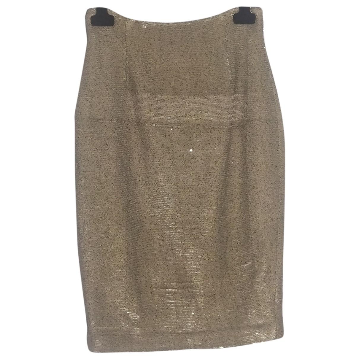 Msgm N Gold skirt for Women 42 IT