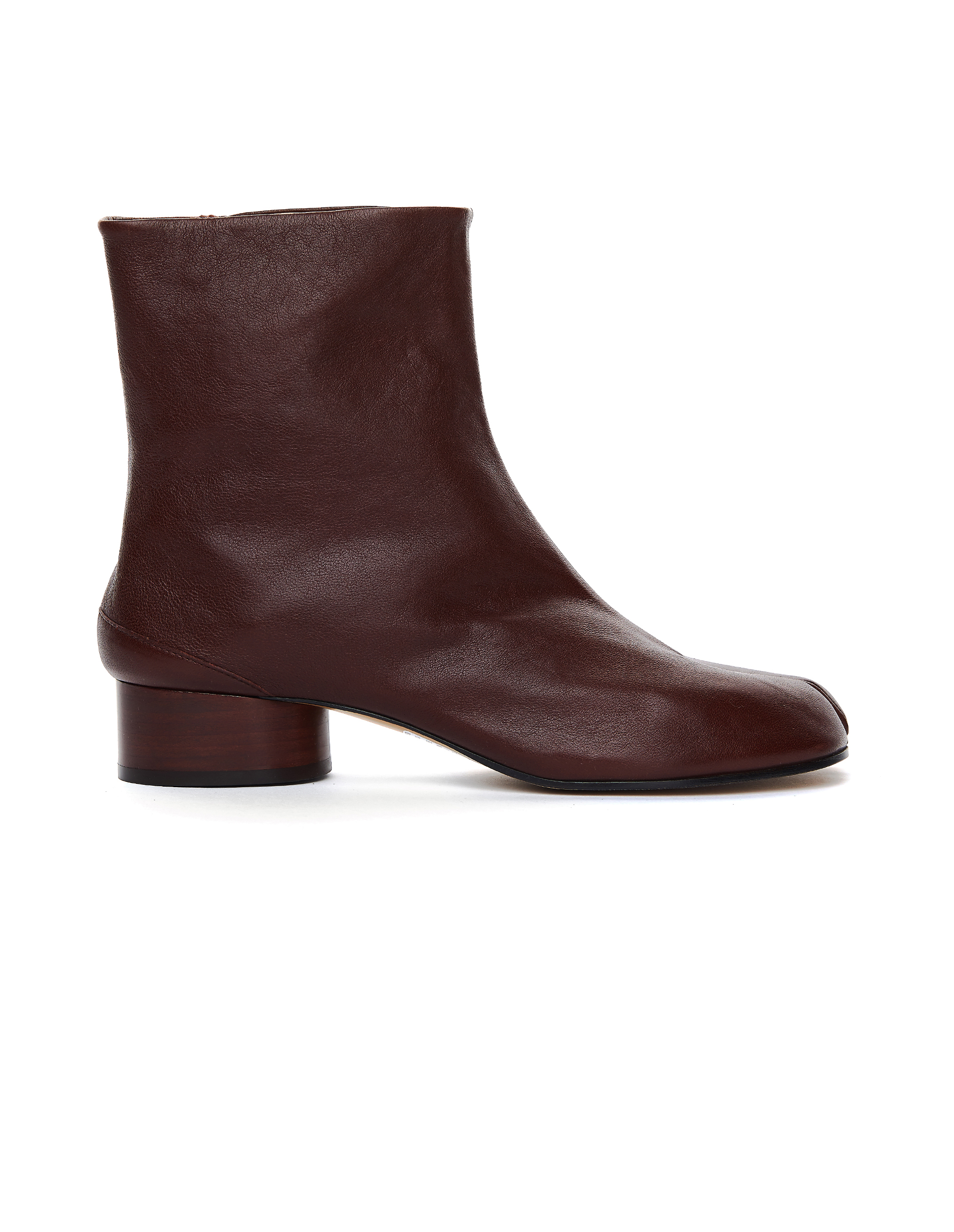 Maison Margiela Burgundy Leather Tabi Boots