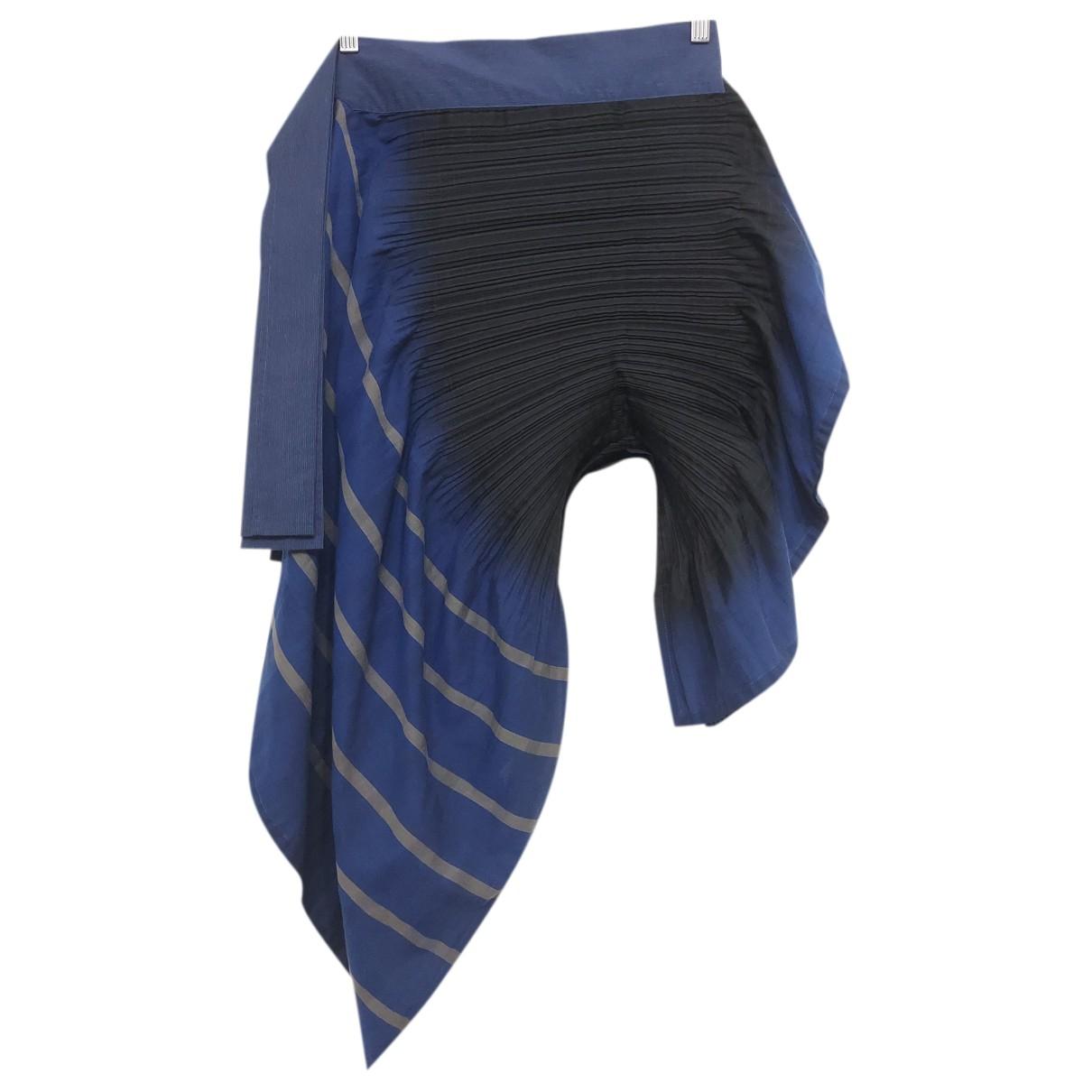 Issey Miyake N Blue Cotton - elasthane skirt for Women 2 0-5