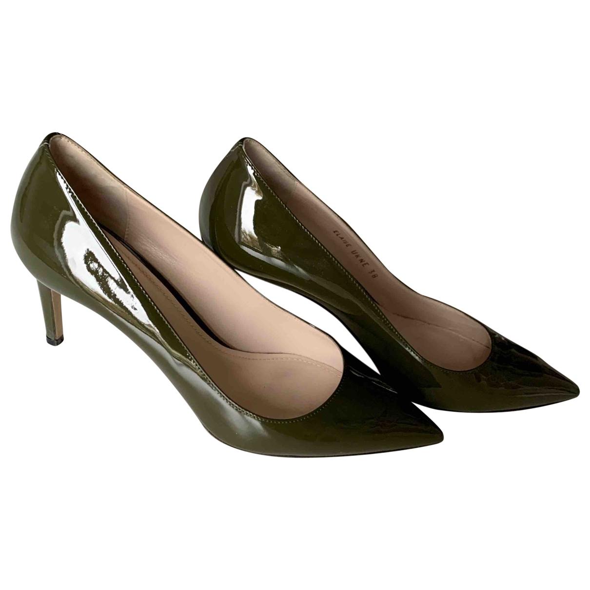 Bally - Escarpins   pour femme en cuir verni - vert