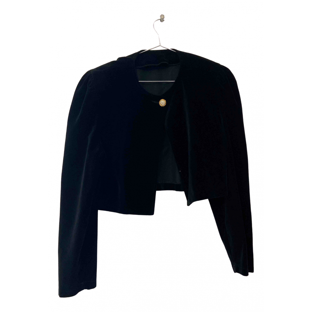 Non Signé / Unsigned \N Black Suede jacket for Women M International