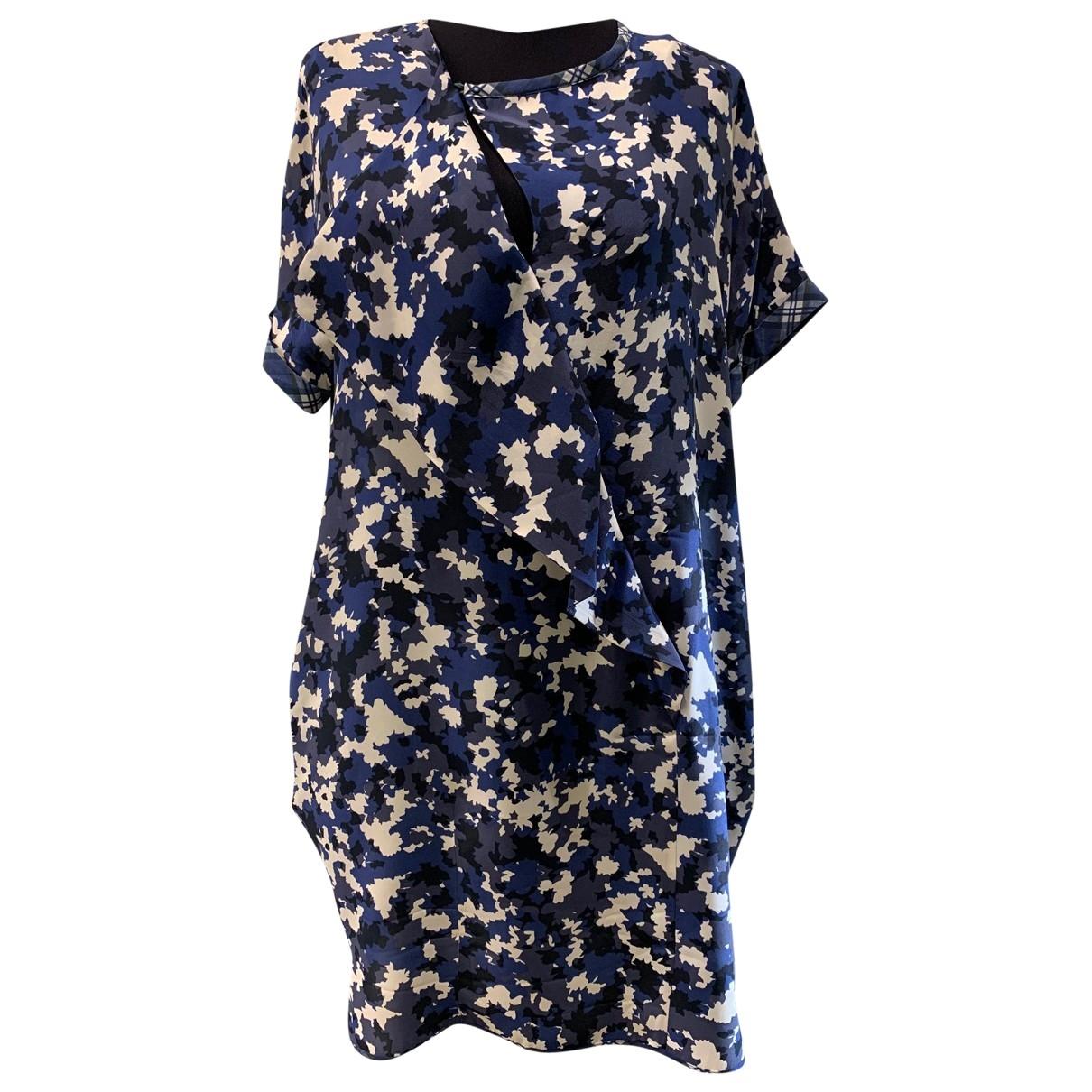 Max Mara Weekend \N Blue Silk dress for Women 44 IT