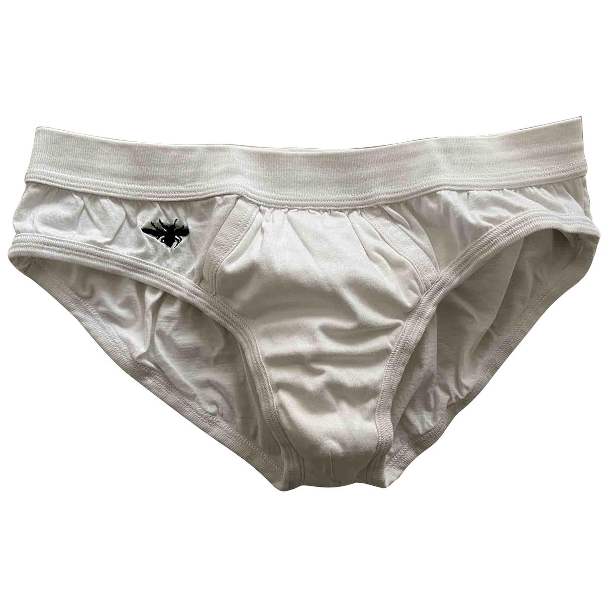 Dior Homme \N White Cotton - elasthane Swimwear for Men 46 IT