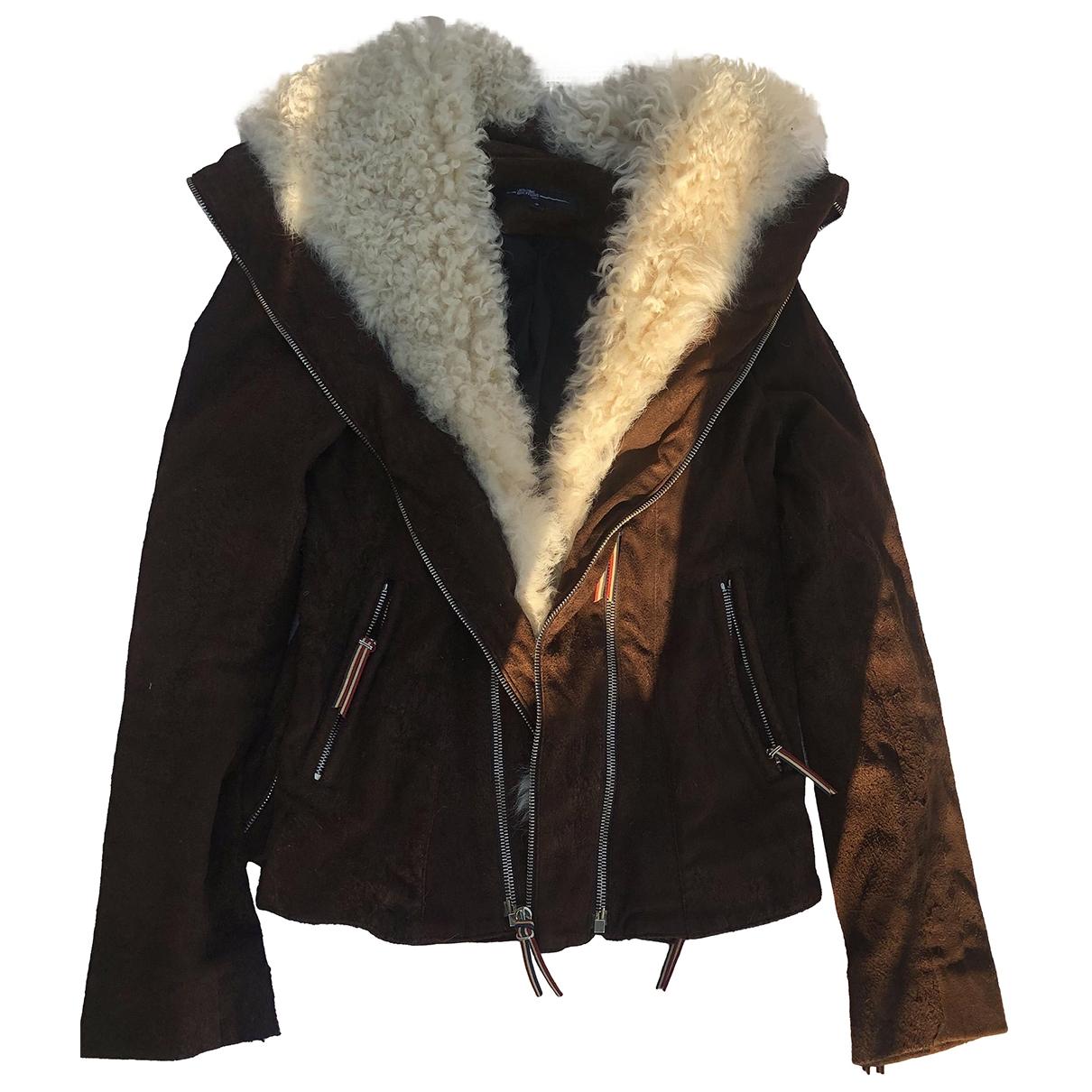 Jerome Dreyfuss \N Brown Wool Leather jacket for Women 0 0-5