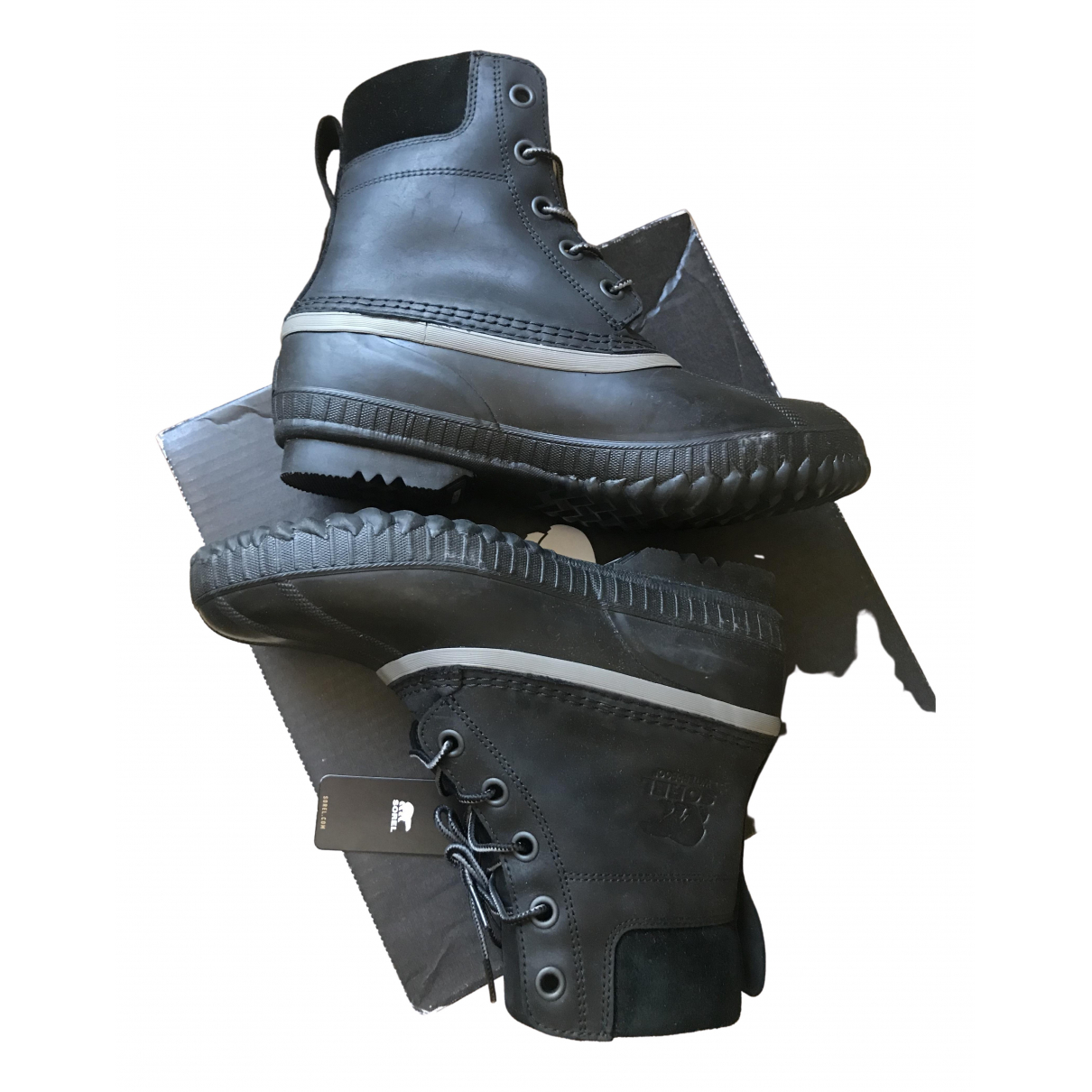 Sorel \N Stiefel in  Schwarz Leder