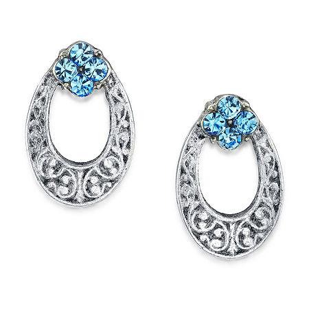 1928 Blue 1/2 Inch Stud Earrings, One Size , Blue