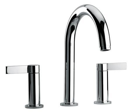 14102-69 Two Lever Handle Roman Tub Faucet With Classic Spout  Antique Brass